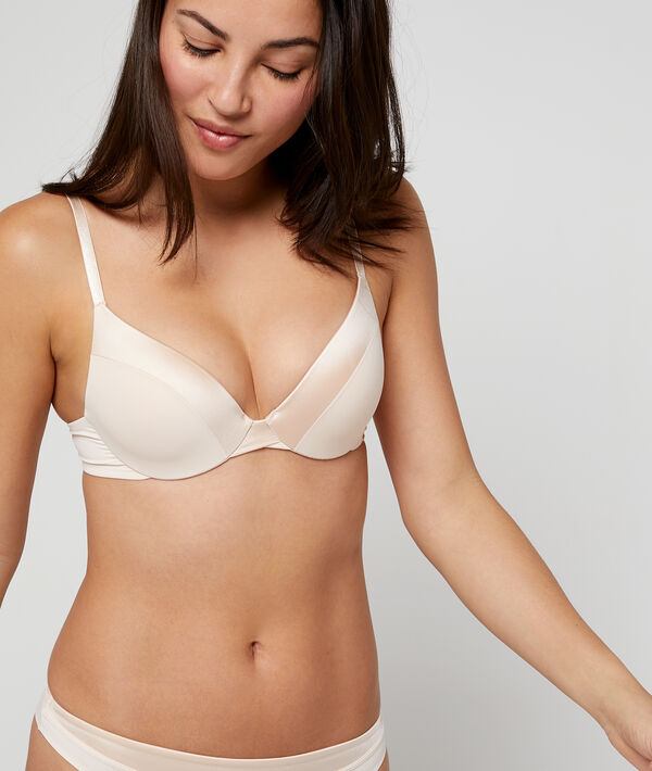 Bra no. 2 - Microfibre plunge push-up bra ;${refinementColor}