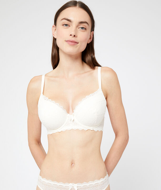 Bra no. 4  -  lightly padded bra ecru.