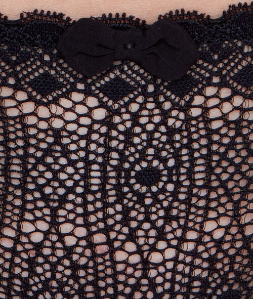 Chiffon and patterned lace tanga.