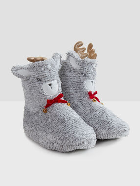 3d boot slippers gray.
