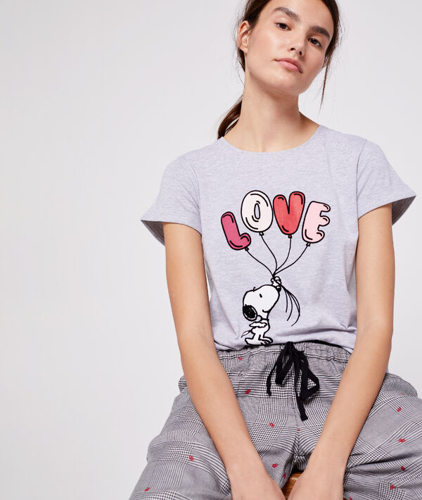 Love' snoopy T-shirt;${refinementColor}