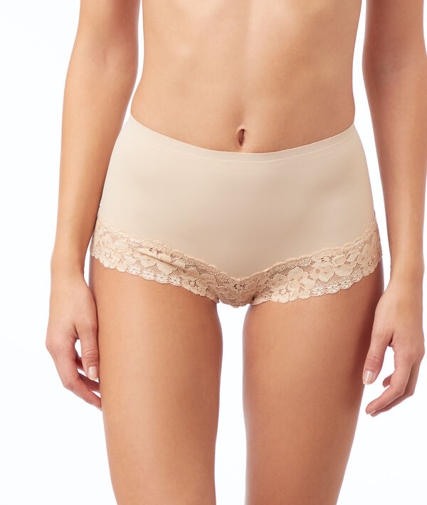 Lace high-waisted briefs - level 1 : shaped silhouette