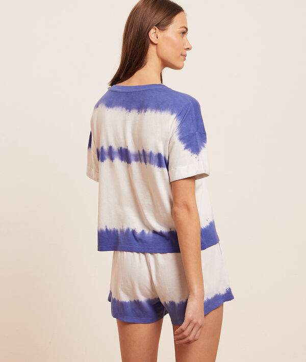 Top manches courtes tie and dye;${refinementColor}
