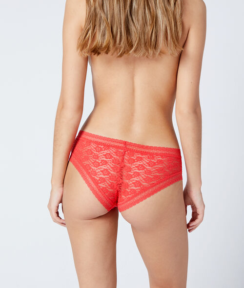 Floral lace tanga briefs