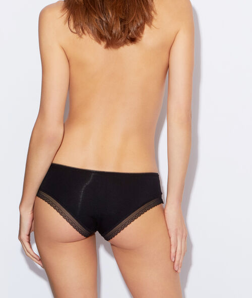 Soft, lace-edged, modal briefs