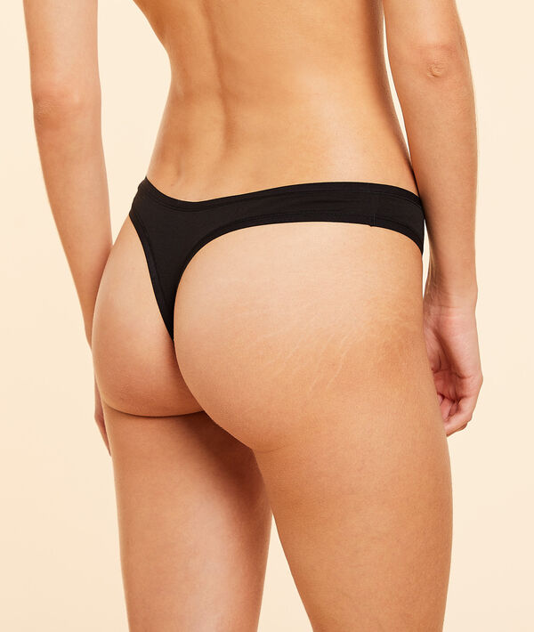 Pack of 3 cotton thongs;${refinementColor}