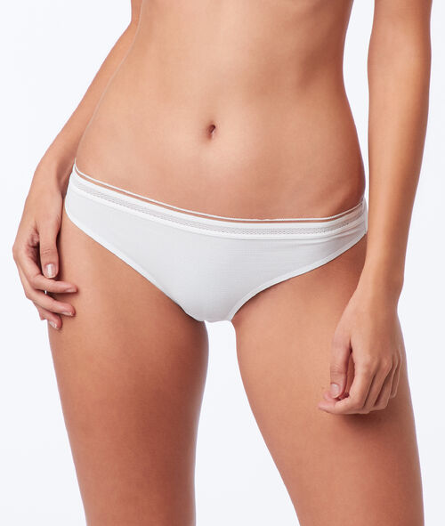 Lace trim microfiber knickers