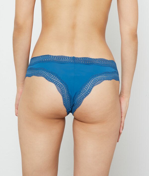 Graphic lace trim tanga;${refinementColor}