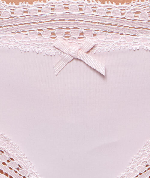 Ornate lace-edged hipsters