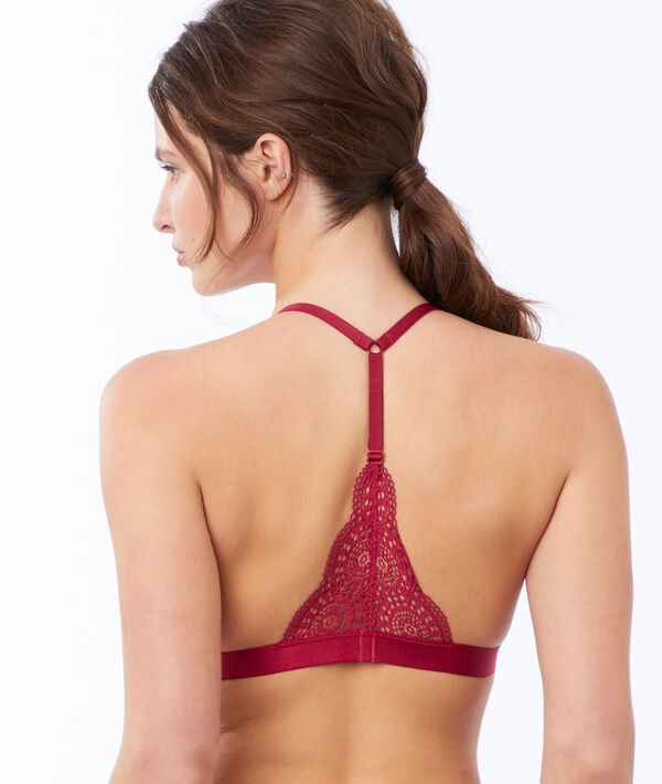 Lace triangle, racer back;${refinementColor}