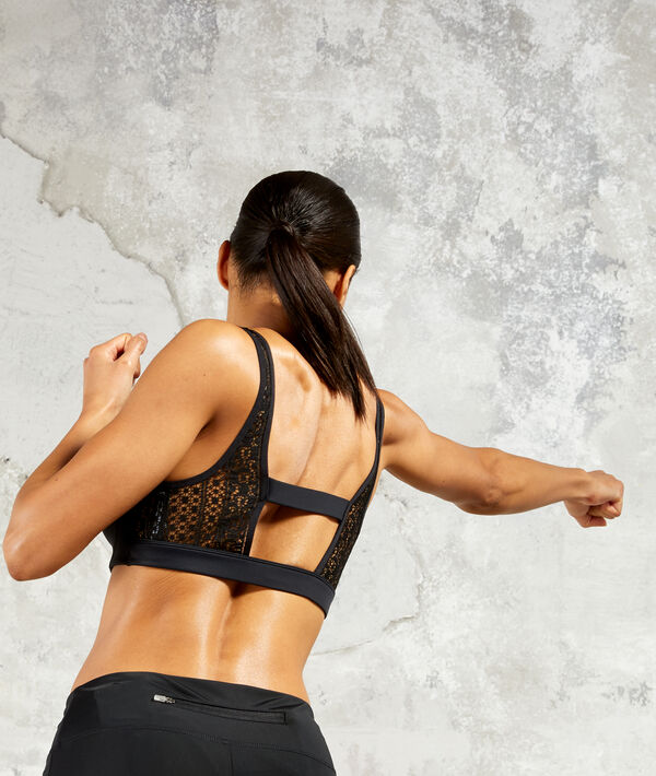 Bralet with strappy back - medium support;${refinementColor}