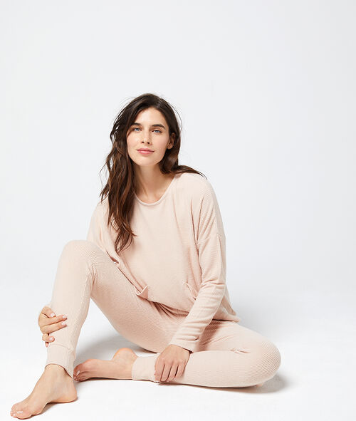 Soft knitted trousers