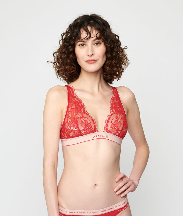 Non-wired triangle bra;${refinementColor}