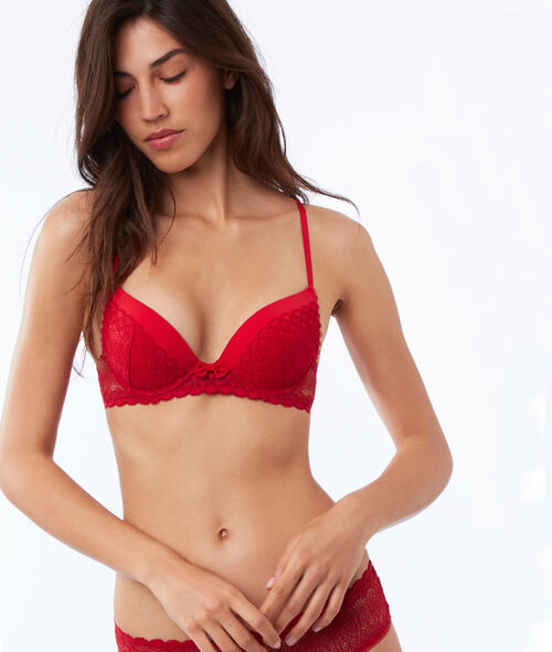 Bra No. 2 - Lace plunging push-up, racer back