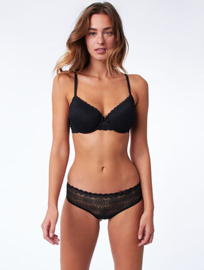 Bra no. 4  -  lightly padded bra black.