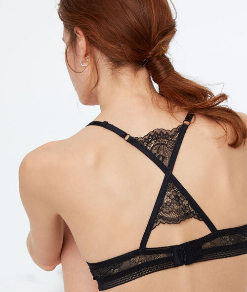 Racer-back push-up bra