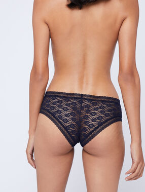 Floral lace hipsters midnight blue.