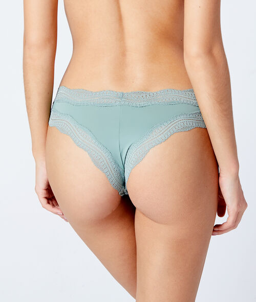 Lace trims tanga briefs