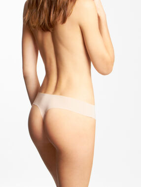 Invisible microfiber thong nude.