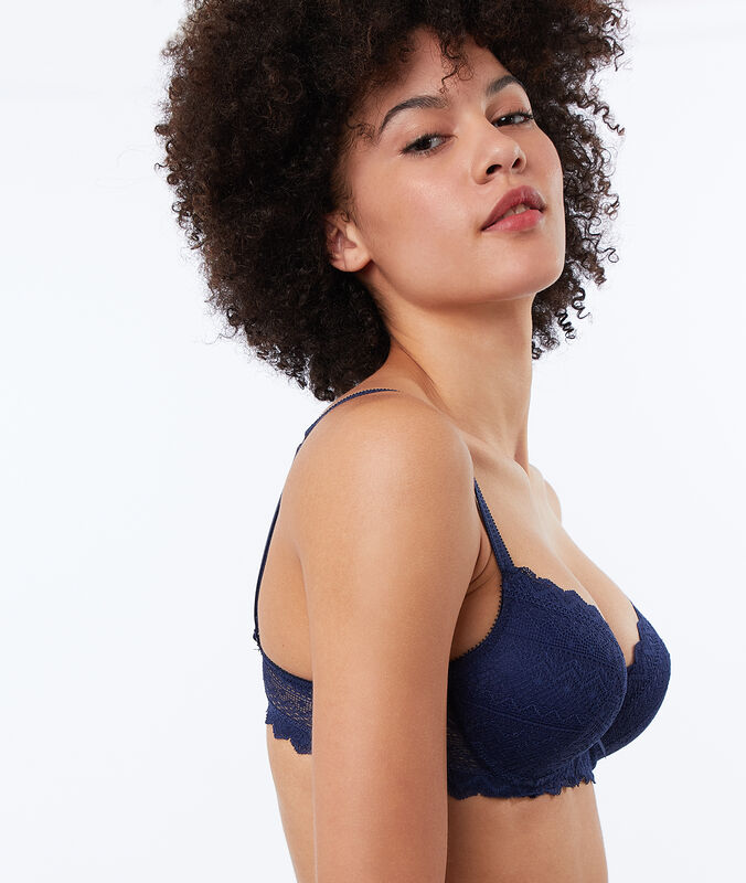 Bra no. 1 - lace magic up navy.