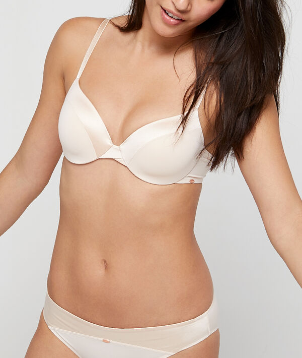 Bra n°5 - classic padded lace bra with microfibre;${refinementColor}