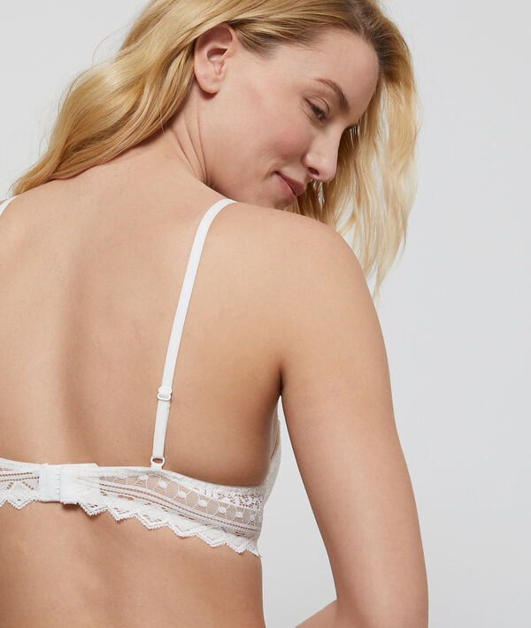 Bra n°3 - Lace triangle push-up bra;${refinementColor}