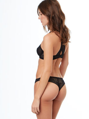 All-lace tanga black.