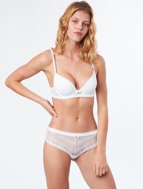 Bra no. 2  -  plunging push-up bra ecru.