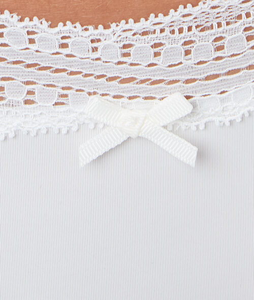 Ornate lace-edged shorts