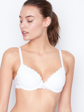 Bra no. 4  -  lightly padded bra white.