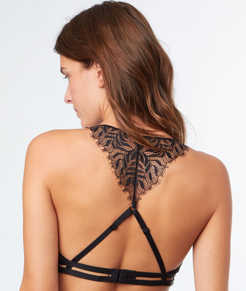 All lace non-wired triangle, racer back bra