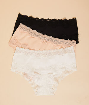 Pack of 3 cotton shorts