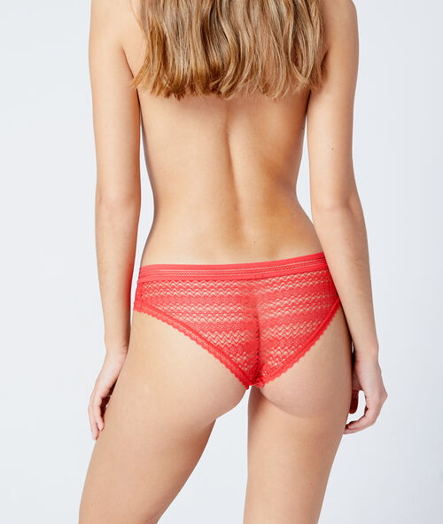Micro lace hipster briefs