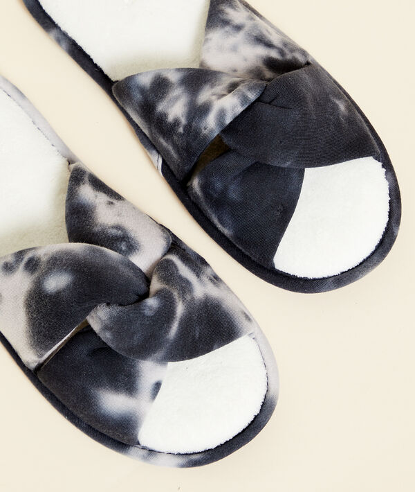 Chaussons tongs effet tie and dye;${refinementColor}