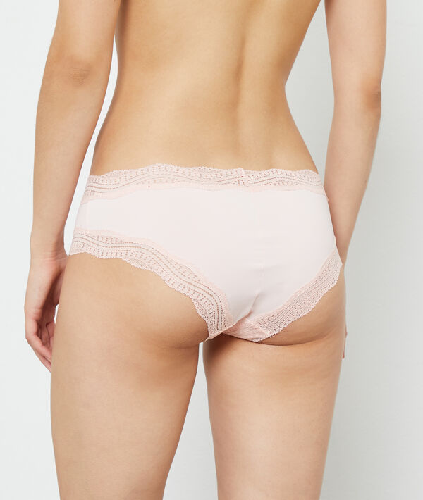 Lace trim short briefs