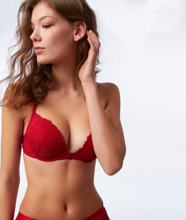 Bra No. 5 - Classic padded lace bra with racer back;${refinementColor}