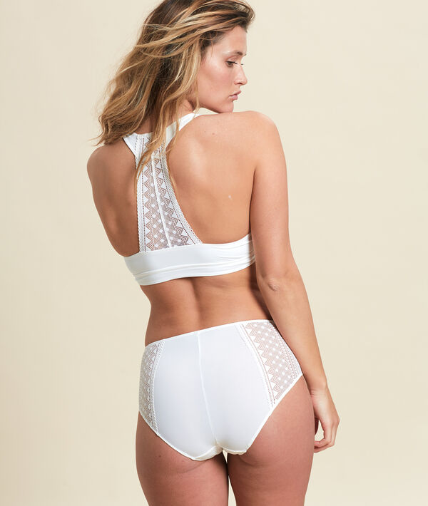 Micro lace high waisted briefs;${refinementColor}