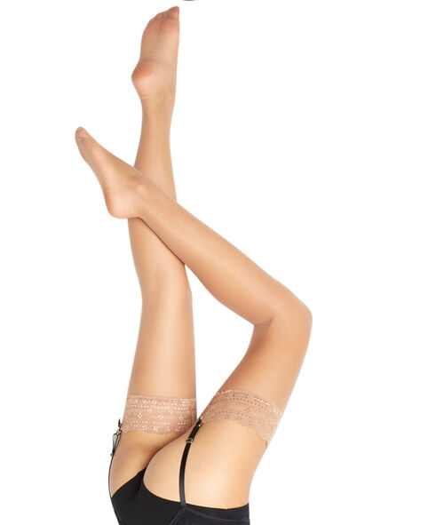 Satin effect stockings, 15d